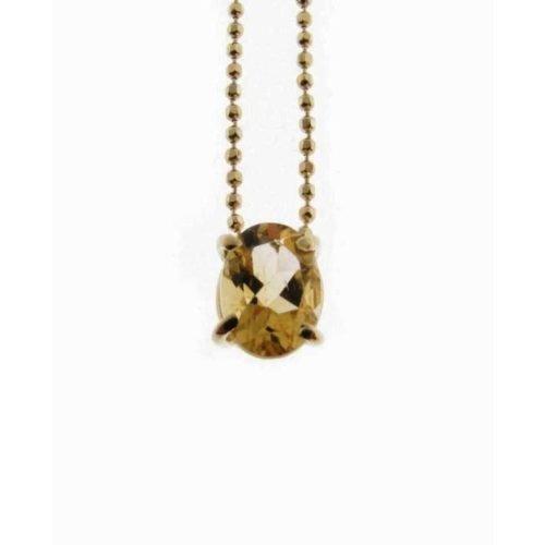 Catena in oro con ciondolo, Citrino, Rajola. Collezione LUCE. Codice 3405-969-5.