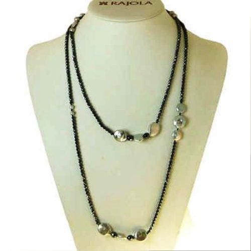 Collana con pietre e perle, Rajola. Collezione SILENE. Codice B54-82-8.