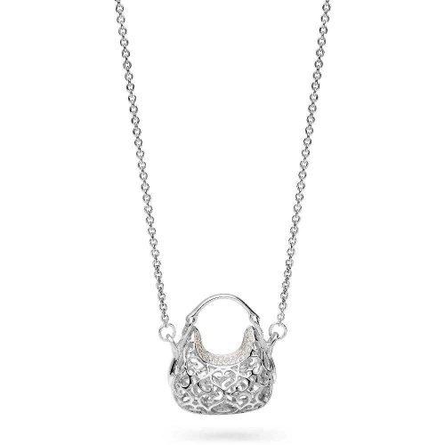 Collana da donna in argento e cristalli, Rosato. Collezione ICONE. Codice RIC28.