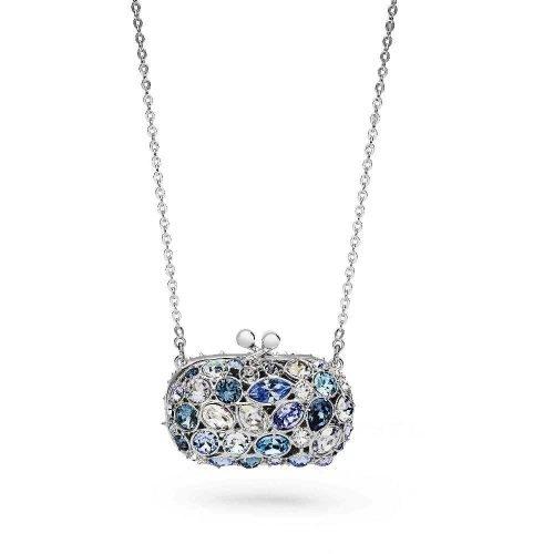 Collana da donna in argento e cristalli, Rosato. Collezione ICONE. Codice RIC30.