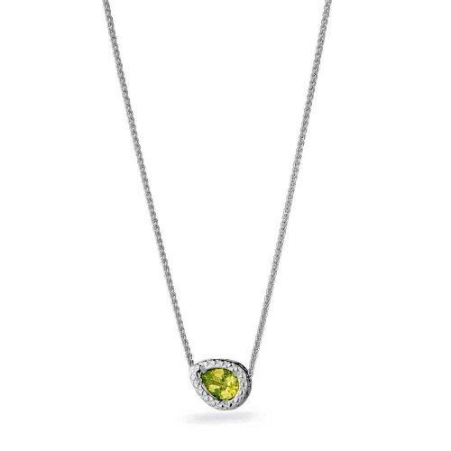 Collana da donna in Argento con Pendente e pietre naturali, Rosato Gioielli. Collezione MESSAGGI. Codice RMD03.