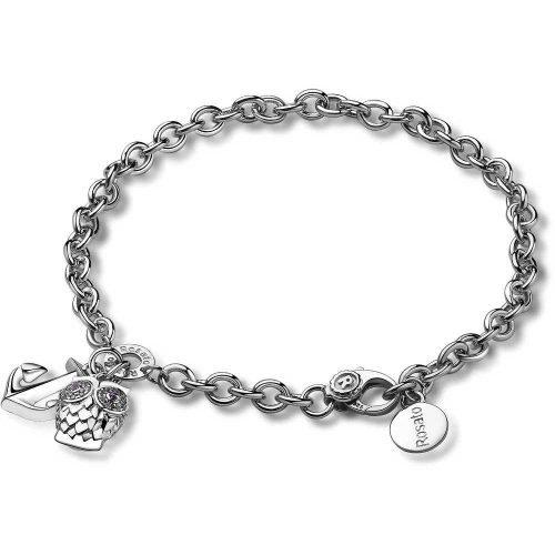 Bracciale da donna in argento e cristalli, Rosato. Collezione SOGNI. Codice RSOA12.