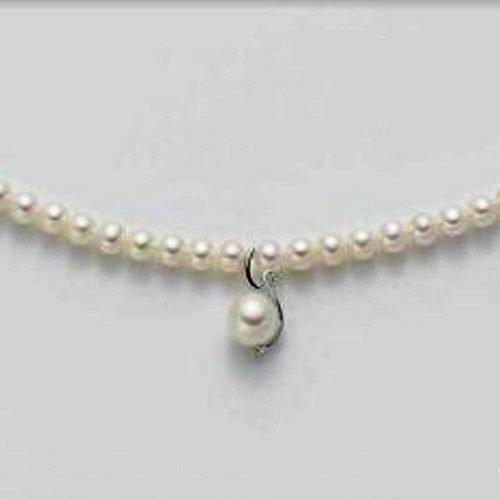 Collier di perle, cristalli ed oro Mikiko. Collezione FRESH WATER. Codice MC1294O4FCBI045.