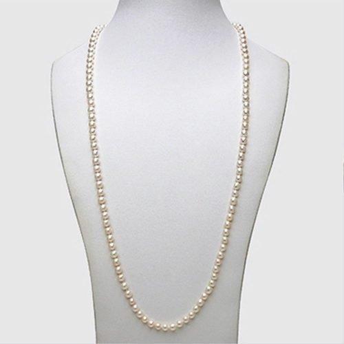 Collana lunga di Perle di Acqua Dolce, Mikiko. Collezione ETERNITY PEARLS. Codice MF0900P0FCBI070.