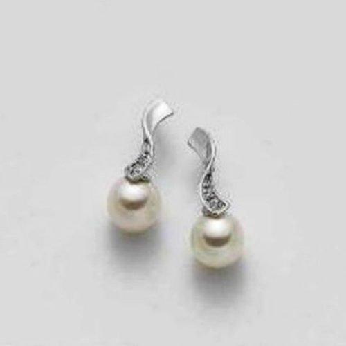 Orecchini di perle, cristalli ed oro Mikiko. Collezione FRESH WATER. Codice MO0811O4FABI070.