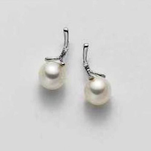 Orecchini di perle, cristalli ed oro Mikiko. Collezione FRESH WATER. Codice MO1225O4FABI075.