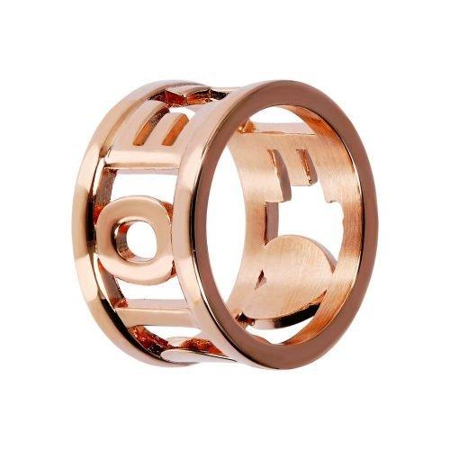Anello a fascia in Bronzo placcato oro rosa, Bronzallure. Collezione CELEBRATE AMORE. Codice WSBZ01503R-16.