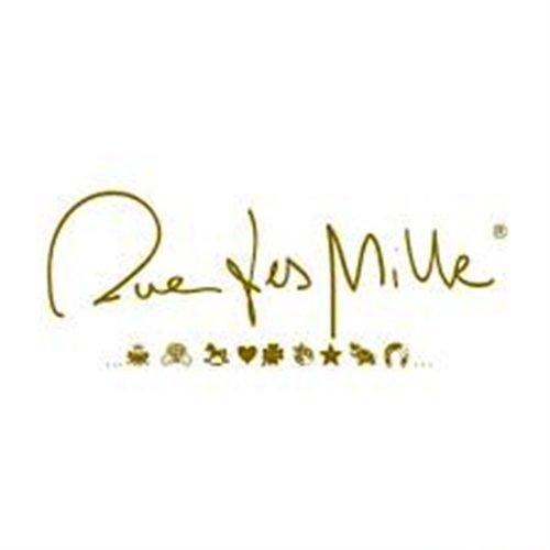 Bracciale a catenella con pietre incatenate e mono soggetto Stella con zirconi, Rue des Mille. Collezione I SOGNI SON DESIDERI. Codice BRCATMT-STELLA.
