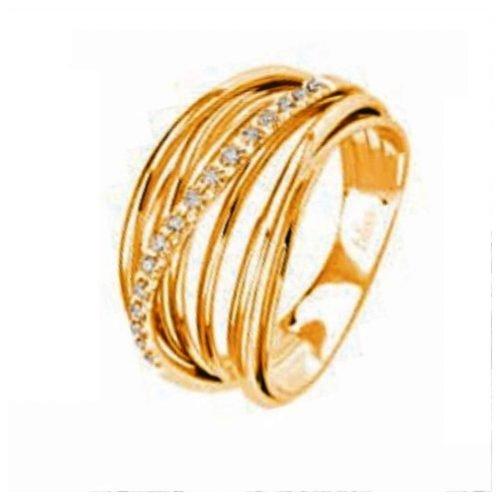 Anello da donna a Fascia in Oro Giallo e Diamanti, Bliss Gioielli. Collezione FASCINO. Codice 20068096.