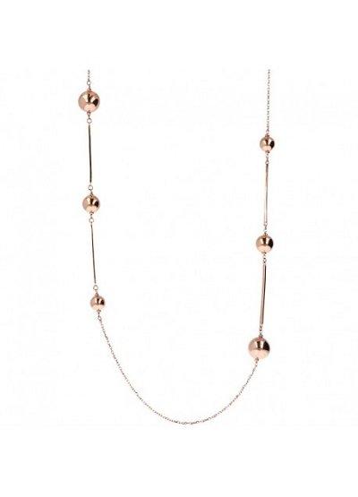 Collana con sfere in Golden Rosé. Collezione PUREZZA. Codice WSBZ01350.R.